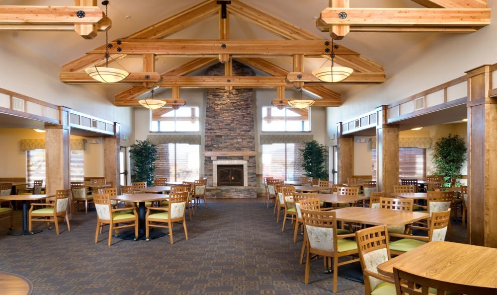Dining Hall At Senior Living In Bozeman Montana