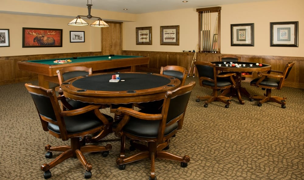 Game Room At Senior Living In Bozeman Montana