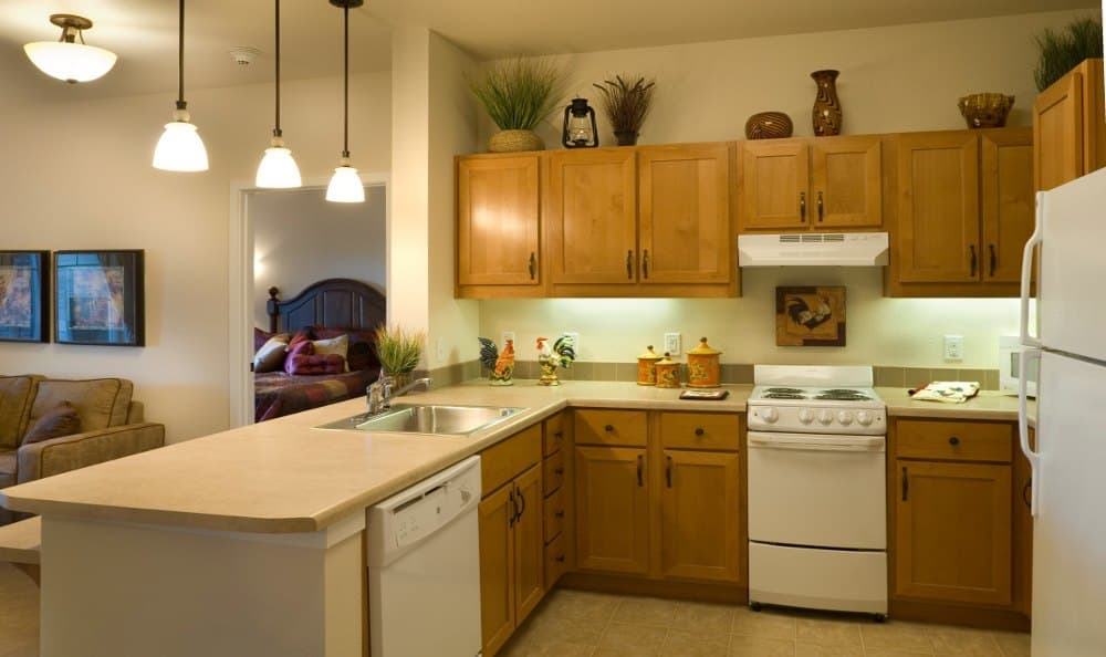 Kitchen At Senior Living In Bozeman Montana