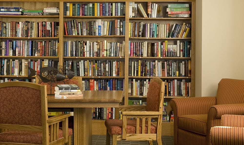 Library At Senior Living In Bozeman Montana