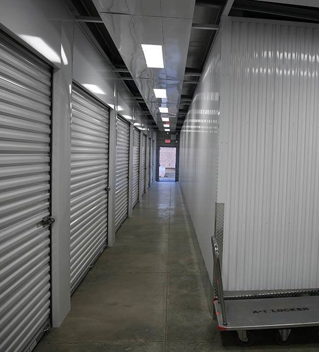 Inside self storage in Fenton MO