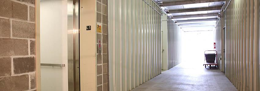 Easy and spacious loading zones and freight elevators for your self storage in St. Louis, MO