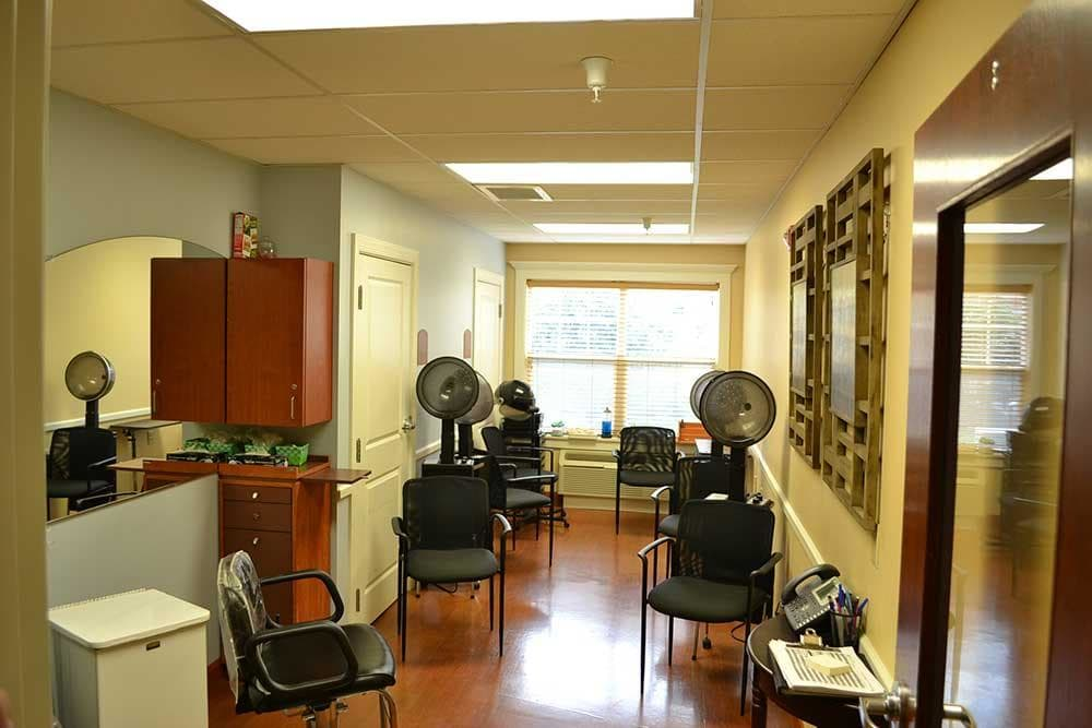 Discovery Village At The West End offers their residents a salon and barbershop!