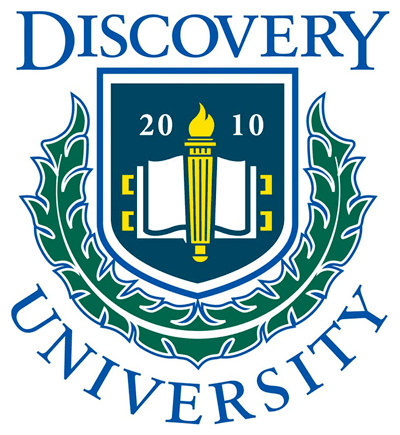Logo for Discovery University, an ongoing lecture series at Discovery Village At Castle Hills