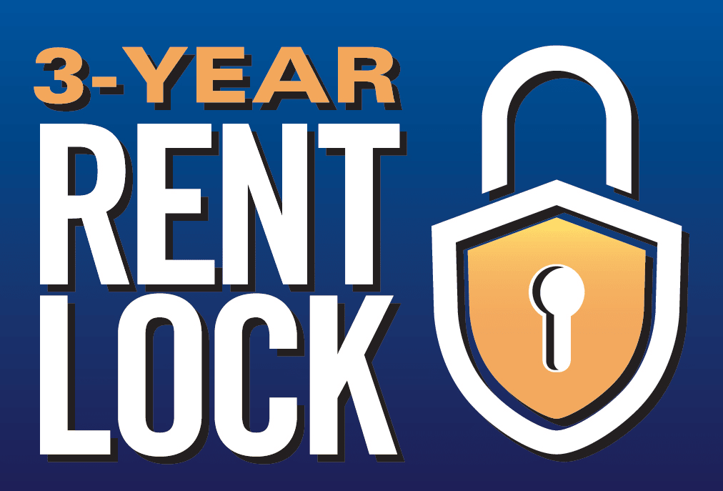 Discovery Village At Castle Hills offers a three-year rent lock!