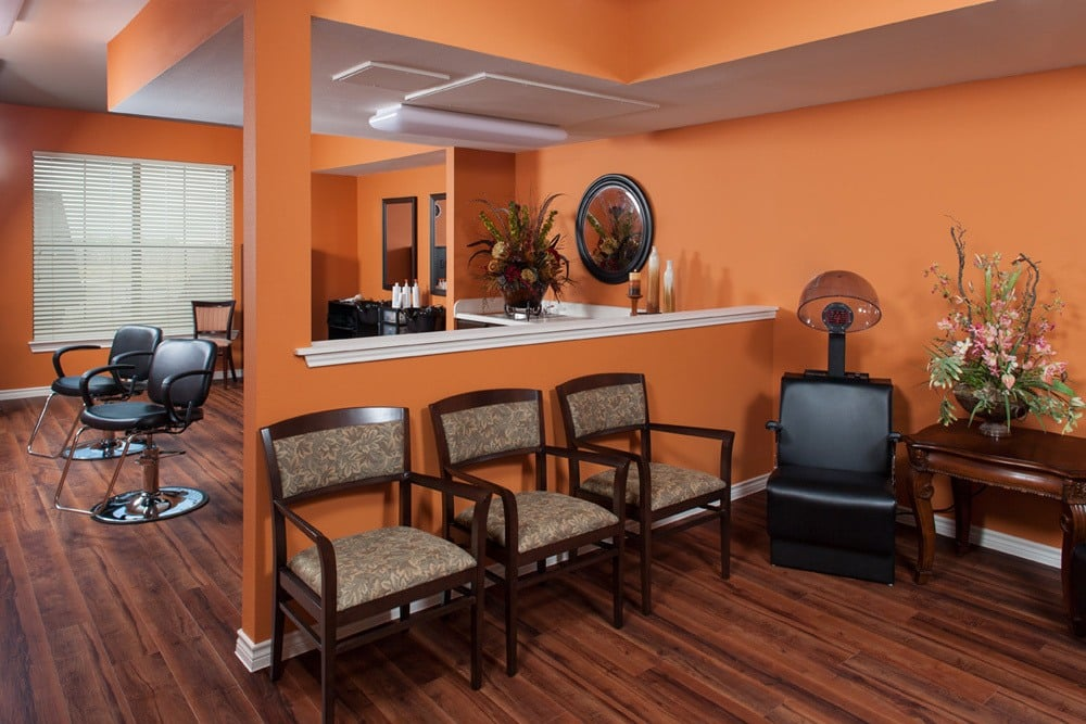 Lewisville senior living apartments have an in-house salon that can fulfill all of your beauty needs!