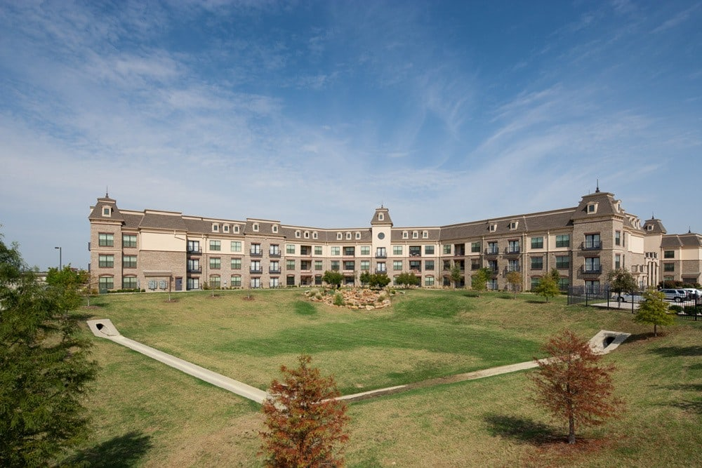 Exterior of our apartment complex and grounds in Lewisville