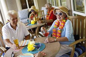 Melbourne senior living residents enjoying a meal