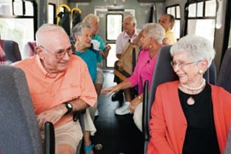 Senior living chauffeured transportation in Melbourne.
