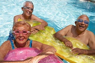 Seniors enjoying water aerobics in Melbourne