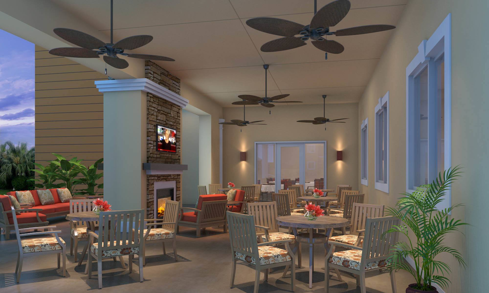 Dinning Room At Discovery Village At The Forum - Independent Living