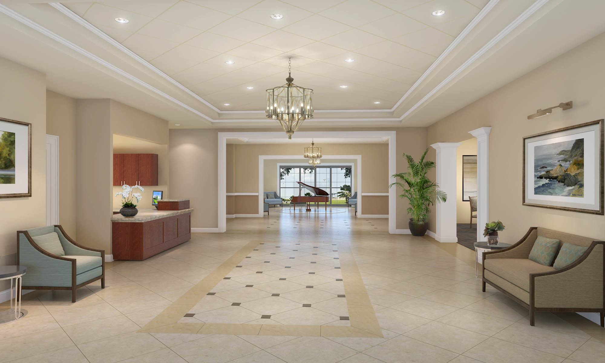 Lobby At Discovery Village At The Forum - Independent Living