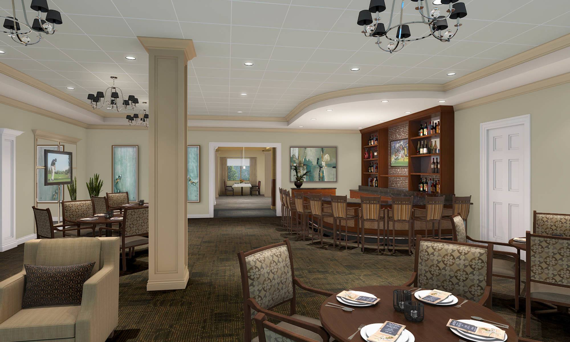 Resident Lounge At Discovery Village At The Forum - Independent Living