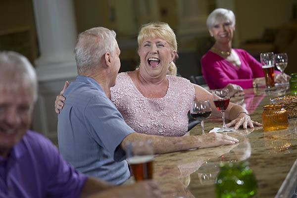 Social gathering at Discovery Village At The Forum - Independent Living