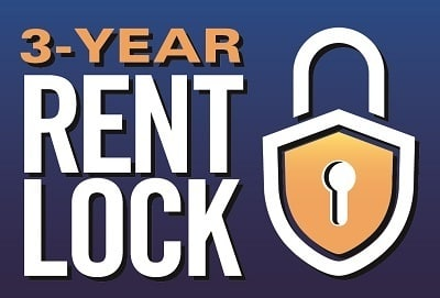 3 year rent protection price lock on senior living rates