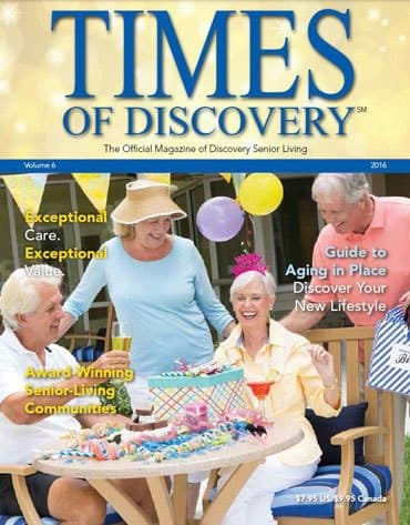 Times of Discovery senior living magazine cover