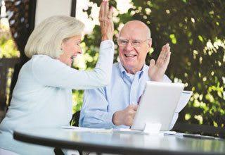 Senior living residents celebrate making the smart financial choice