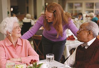 Dining experiences for seniors with concierge service