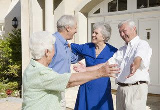 Senior living residents can earn rent credit by telling friends about their Florida community