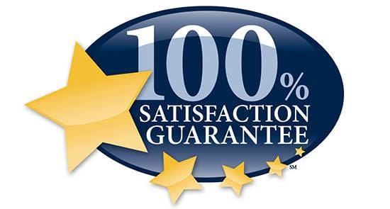 100% satisfaction guarantee on senior living