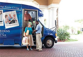 Scheduled transportation for senior living residents in Florida