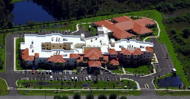 Aerial view of our luxury senior living community in Fort Myers FL