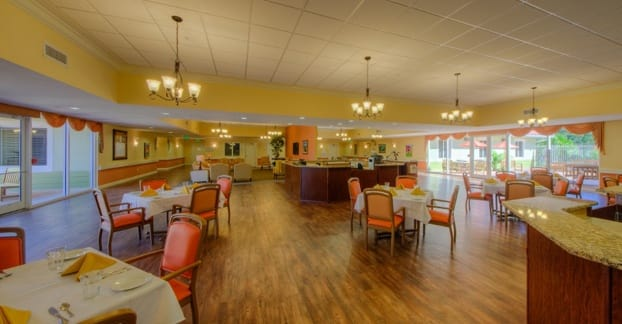 Bright and cheery meeting rooms for senior living residents