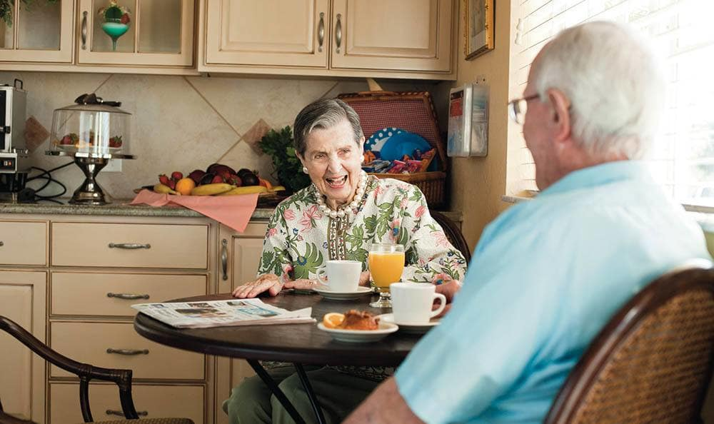 Senior living residents in Fort Myers
