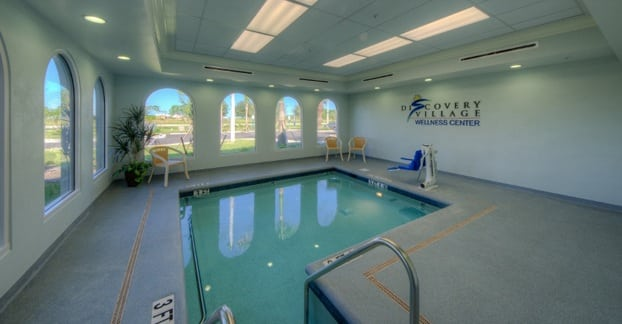 Indoor swimming pool for Fort Myers senior living residents