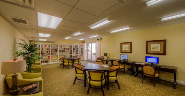 Private library for Fort Myers senior living residents