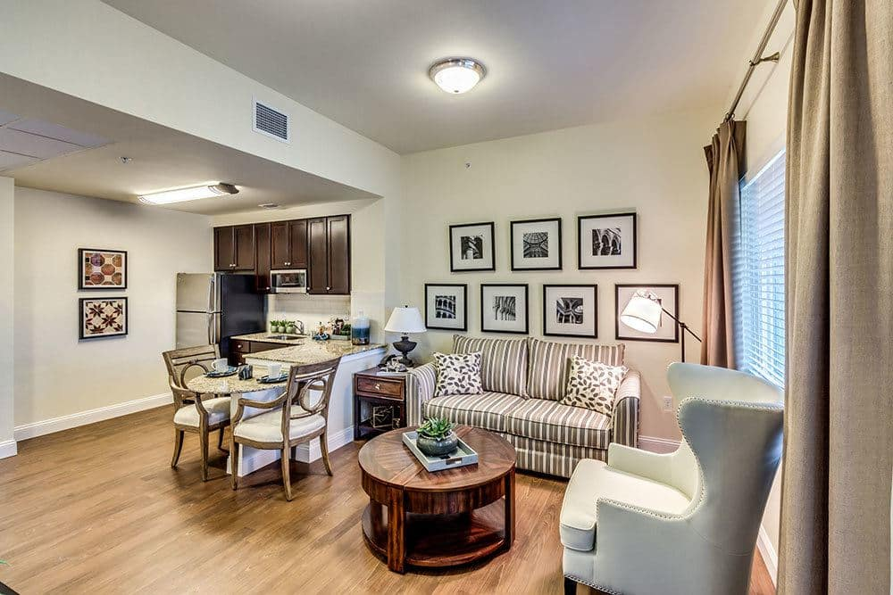 Beautifully furnished senior living apartments in Naples