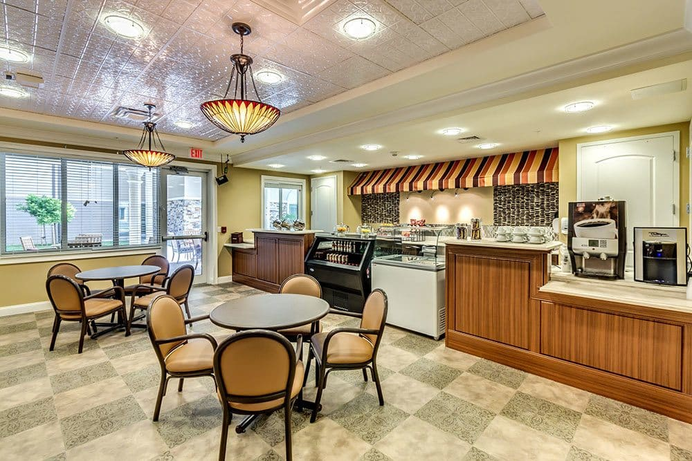 Bistro dining for senior living residents