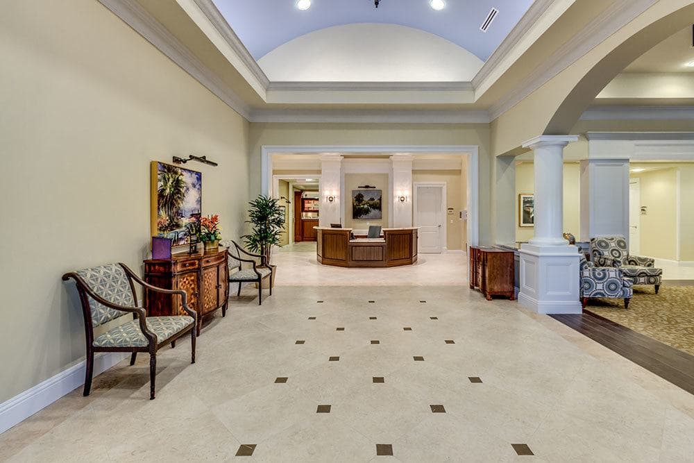 Our Naples senior living community features elegant decor
