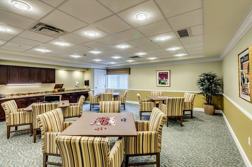 Naples senior living community game room