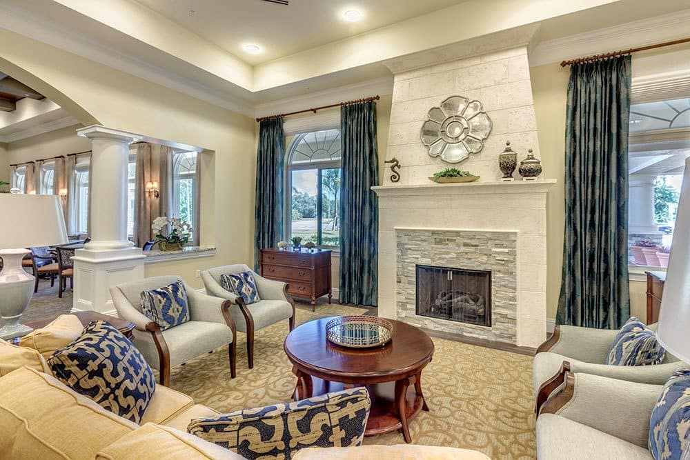 Relax in the comfortable social areas at our Naples senior living community