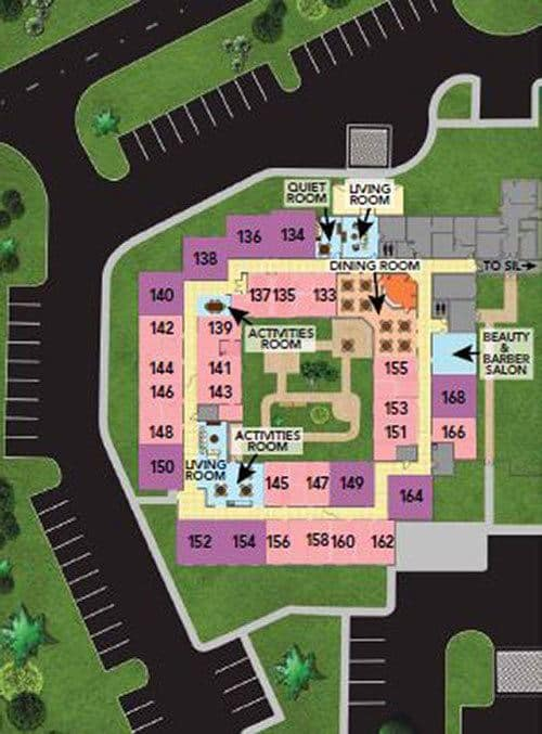 Naples FL senior living memory care community site plan