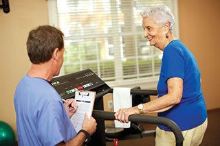 Fitness programs for Discovery Village At Twin Creeks senior living residents.