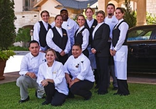 Senior living community staff members in Naples