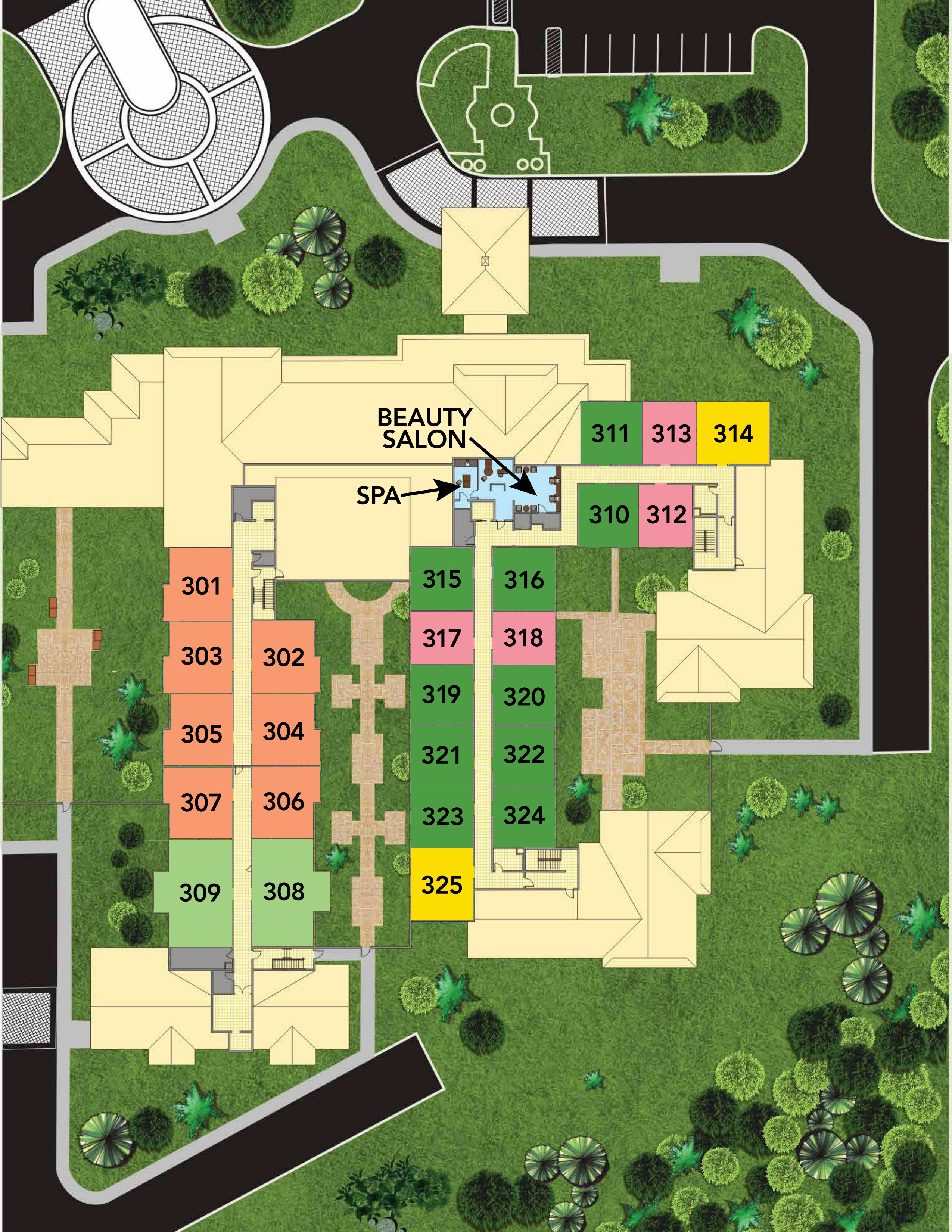 Naples FL senior living community site plan