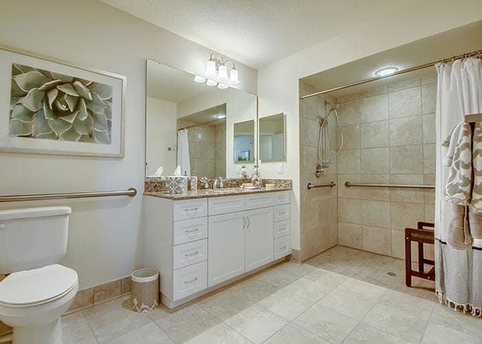 Bathroom at senior living in Bradenton, FL