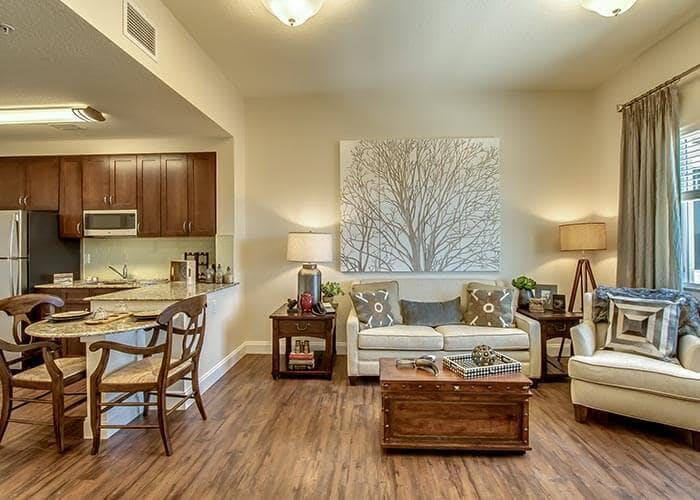Hardwood floors at senior living in Bradenton, FL