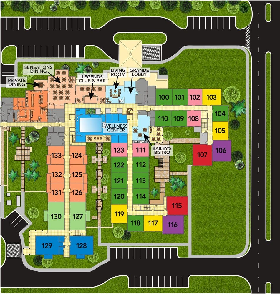 Assisted living site plans for our senior living community in Bradenton