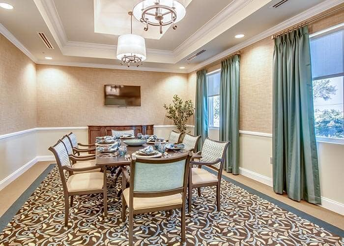 Dining room at Discovery Village At Sarasota Bay in Bradenton, FL