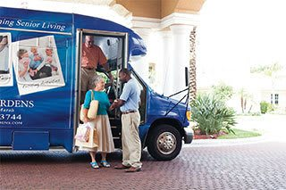 Tampa senior living residents can get around by private bus