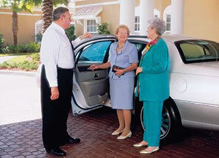 Senior living chauffeured transportation in Palm Beach Gardens.