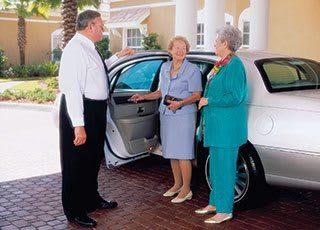 Senior living chauffeured transportation in Palm Beach Gardens.