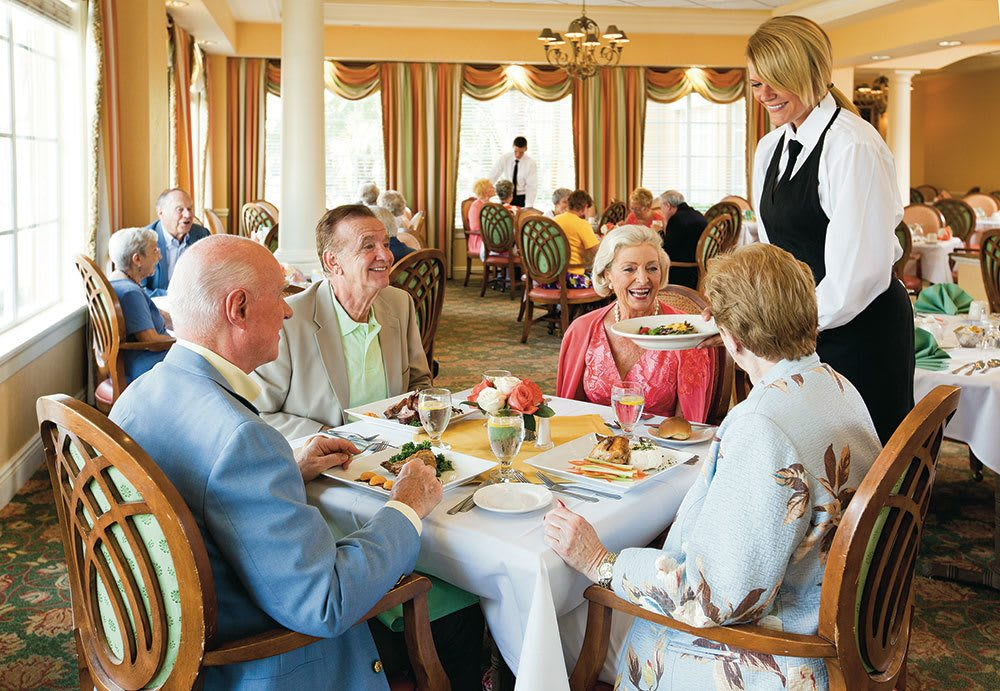Fine dining for senior living residents in Palm Beach Gardens