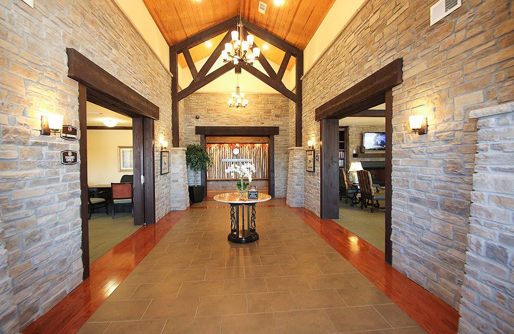 Grand entryway at our Allen senior living community