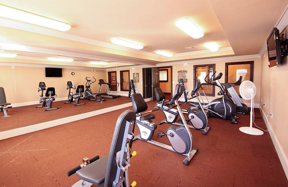 Our Allen senior living community features a private fitness center