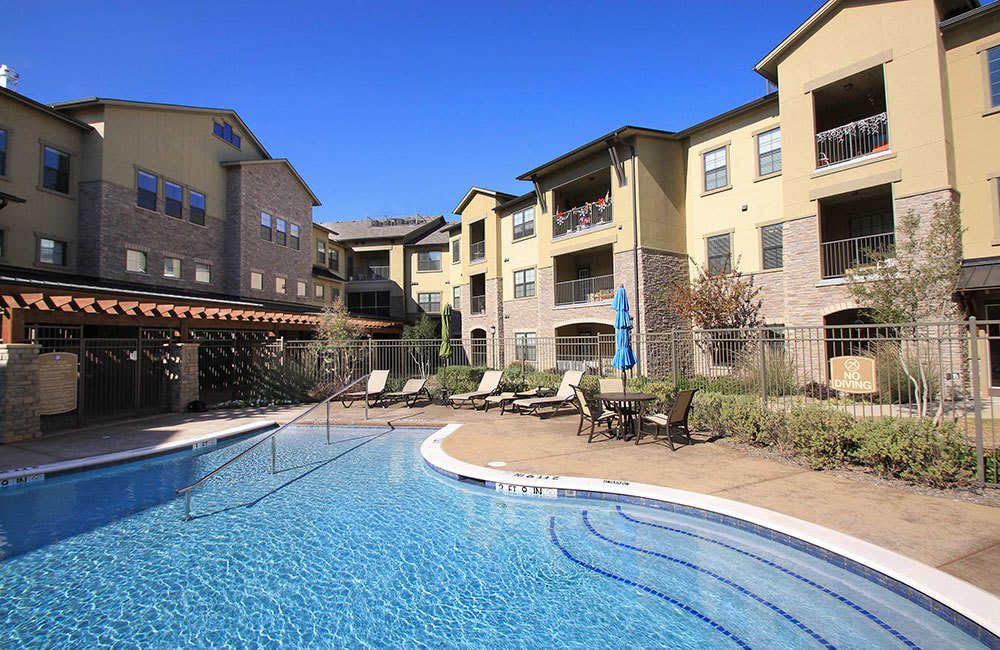 Enjoy access to a sparkling pool at our Allen senior living community